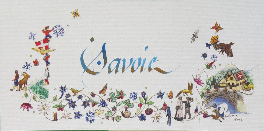 Ex Calligraphie Savoie à la commande