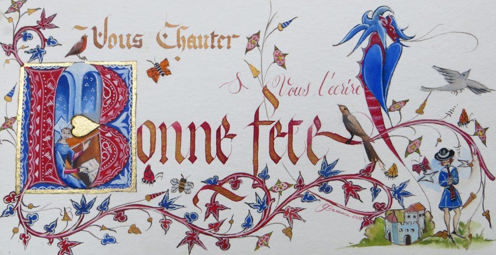 Bonne fête décor médiéval