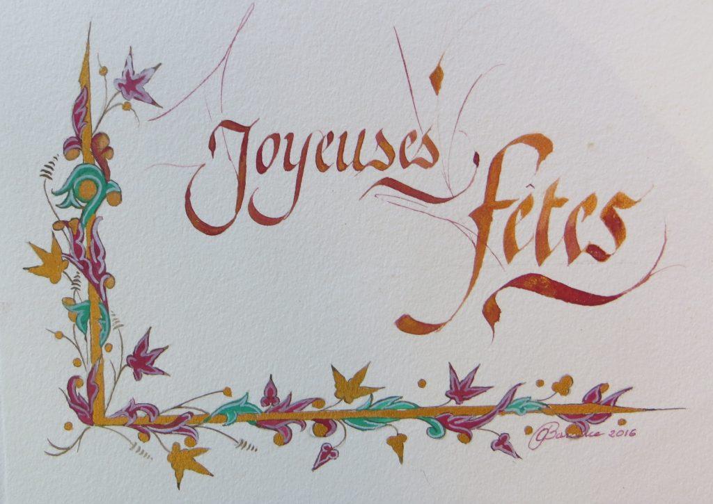 Calligraphie Joyeuses fêtes