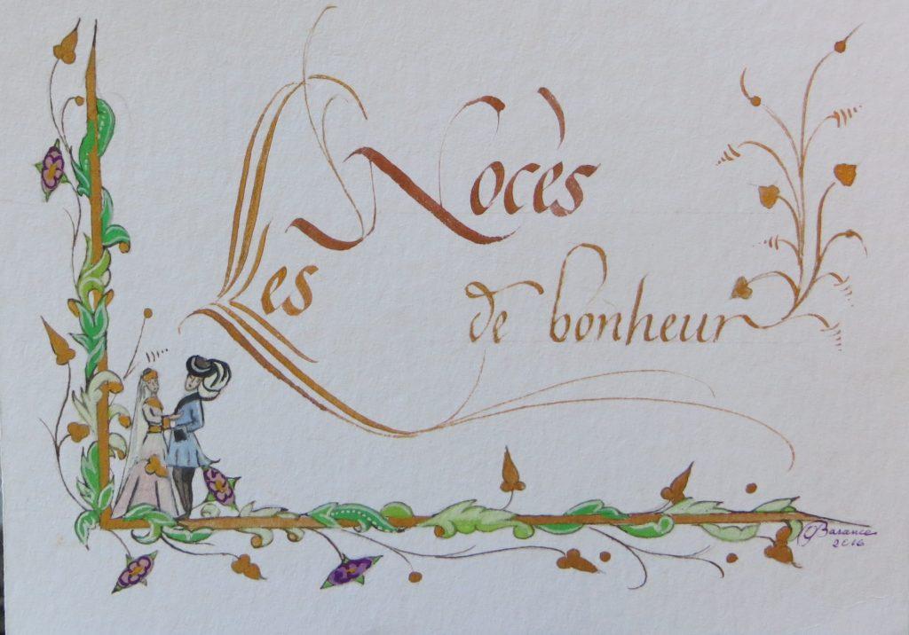 Original carte Les noces de bonheur