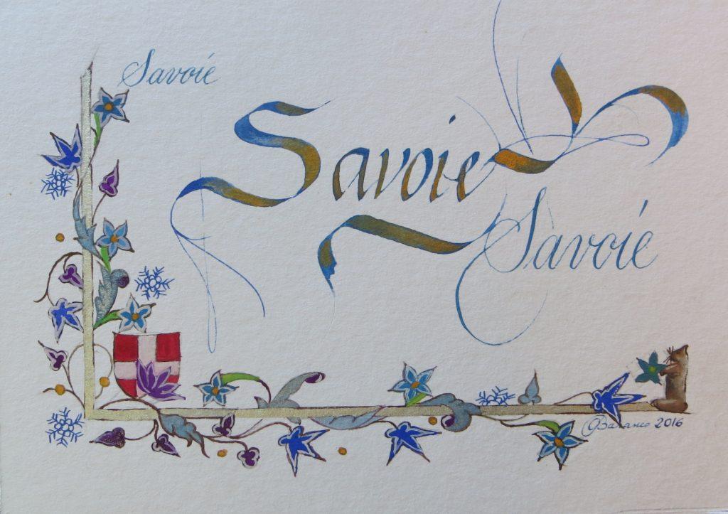 Calligraphie enluminure Savoie