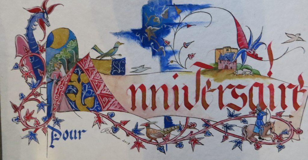 Anniversaire décor médiéval
