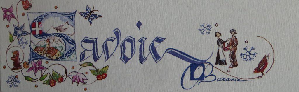 marque page imprimé Savoie
