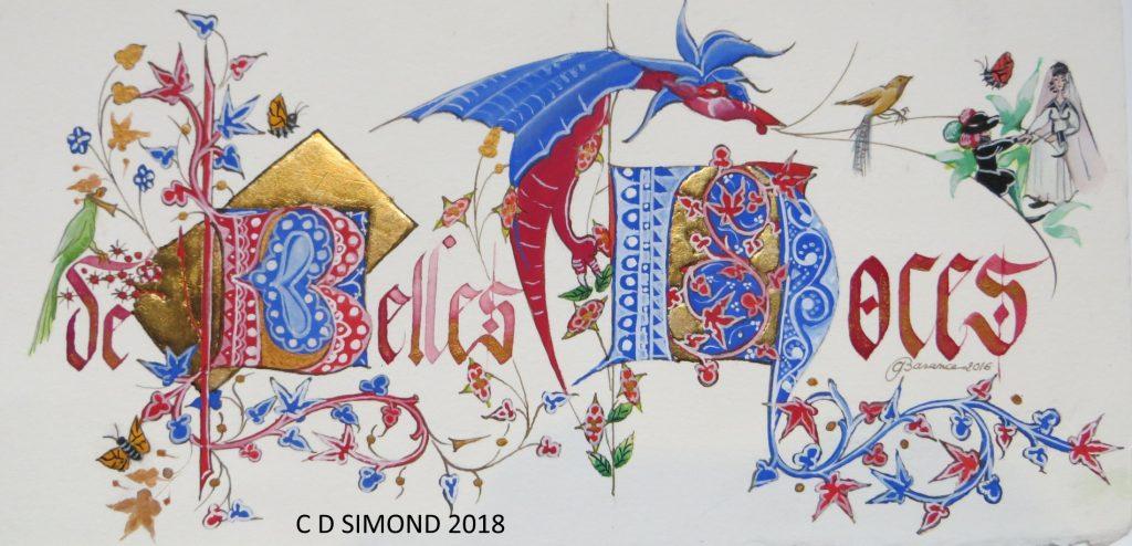 Belles noces décor médiéval