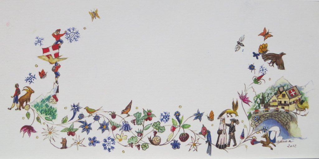 Frise à calligraphier décor Savoie