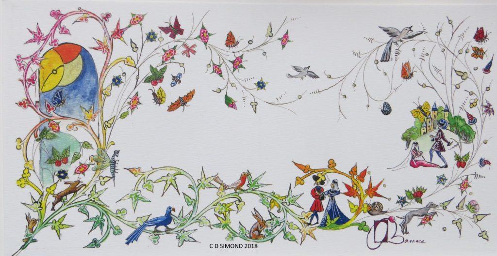 Frise à calligraphier décor nature