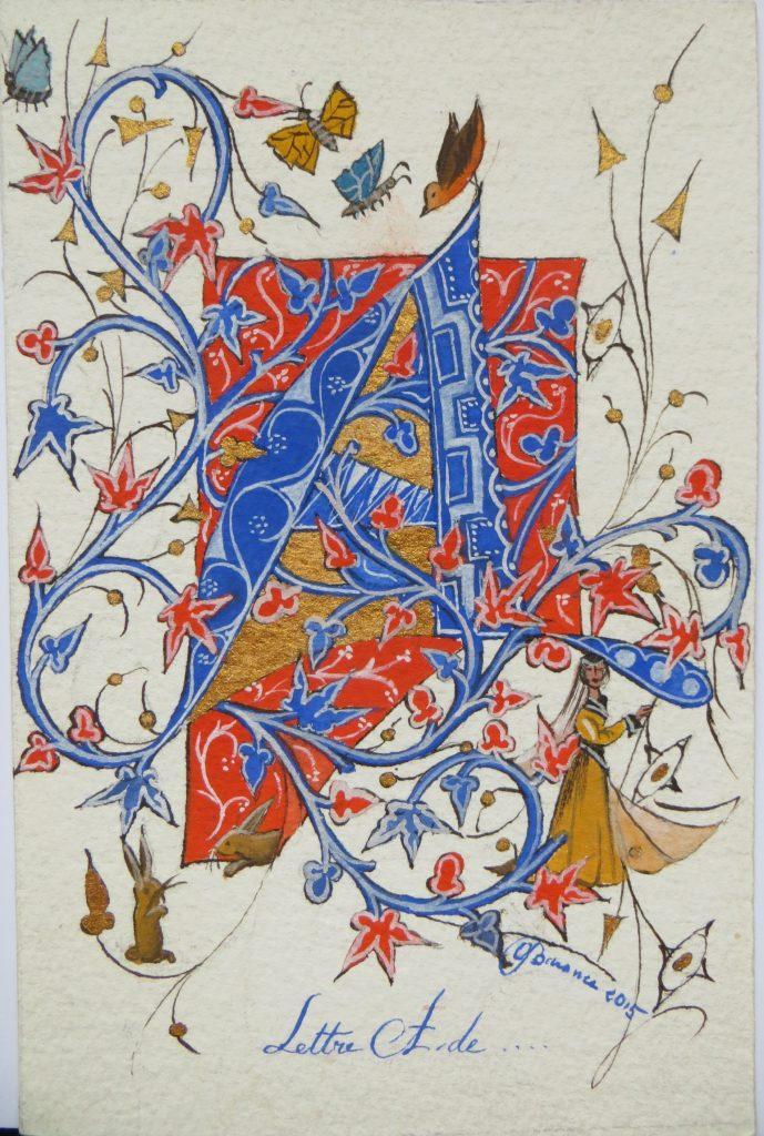 Lettre A médiévale