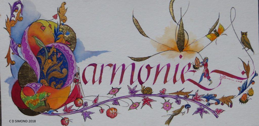 Calligraphie enluminée Harmonie