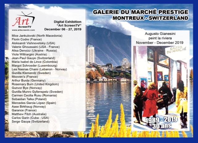 Postcard digital exhibition at La Galerie du Marché Prestige in Montreux Switzerland. (1)
