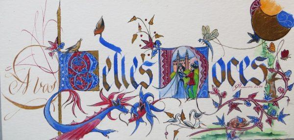 Calligraphie et enluminure pour noces